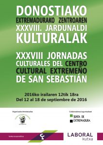 Cartel Jornadas Extremeñas_DONOSTIA